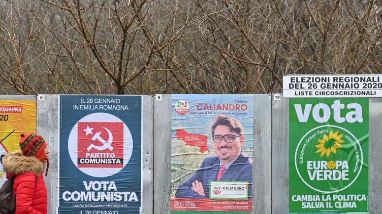 Le 26 janvier, les Bolonais sont invités aux urnes pour des élections régionales à enjeu national. (ANDREAS SOLARO / AFP)