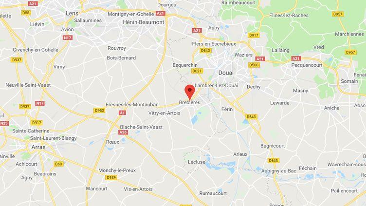 Brebières dans le Pas-de-Calais (GOOGLE MAPS)