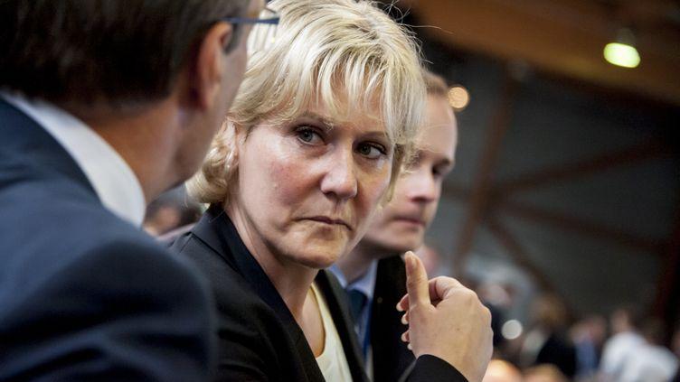 L'eurodéputée Nadine Morano participe au congrès fondateur du parti Les Républicains, à Paris, le 30 mai 2015. (YANN KORBI / CITIZENSIDE / AFP)