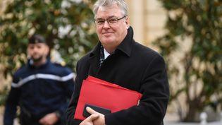 Le haut-commissaire aux retraitesJean-Paul Delevoye lors d'une réunion à Matignon, le 25 novembre 2019. (ERIC FEFERBERG / AFP)