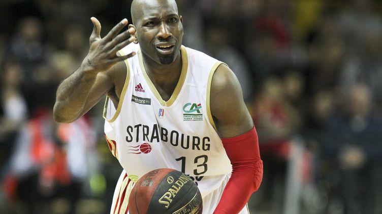 Le joueur de Strasbourg Louis Campbell (ELYXANDRO CEGARRA / NURPHOTO)
