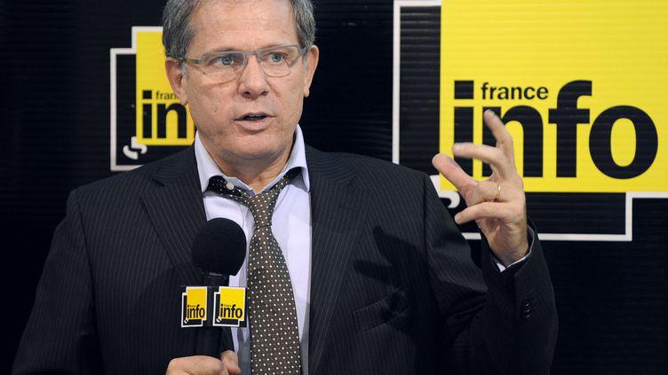Philippe Chaffanjon, ancien directeur de France Info et de France Bleu, disparu en 2013, ici le 2 septembre 2009 à Paris. (BERTRAND GUAY / AFP)