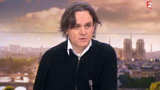 Le dessinateur Laurent Sourisseau, dit Riss, invité du journal de 20 heures de France 2, le 20 janvier 2015. ( FRANCE 2)