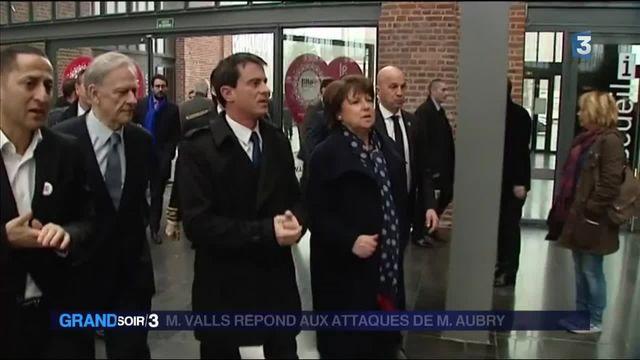 Manuel Valls répond aux attaques de Martine Aubry