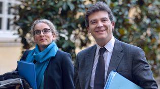 Delphine Batho et Arnaud Montebourgà Matignon, à Paris, le 6 novembre 2012. (ERIC FEFERBERG / AFP)