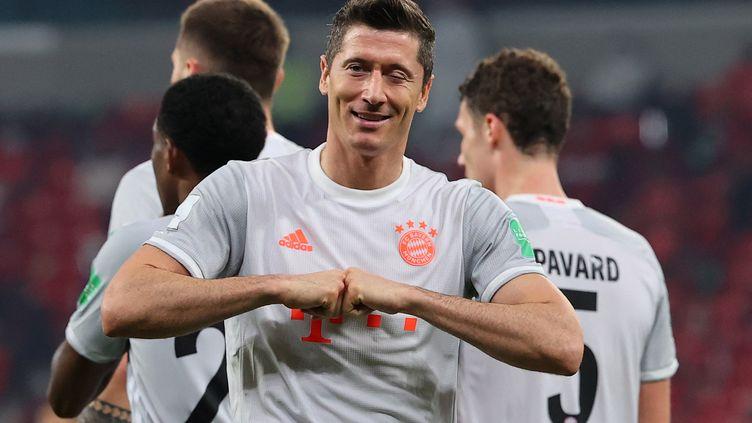Robert Lewandowski (Bayern Munich) a encore frappé lors du Mondial des clubs ce lundi (Karim JAAFAR / AFP) (KARIM JAAFAR / AFP)