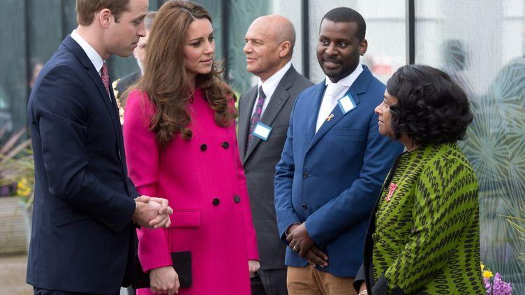 Le prince William et son épouse Kate, le 27 mars 2015 à Londres (Royaume-Uni). (SIPA / MORGAN)