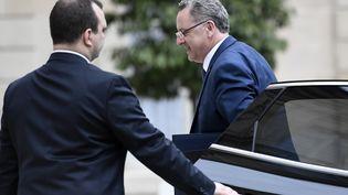 Richard Ferrand, ministre de la Cohésion des territoires, le 24 mai 2017, à l'Elysée, à Paris. (STEPHANE DE SAKUTIN / AFP)