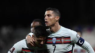 Cristiano Ronaldo, buteur contre le Luxembourg (JOHN THYS / AFP)