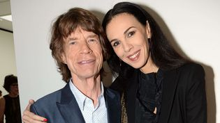 Mick Jagger et sa compagne L'Wren Scott -le 15 septembre 2013 à la Fashion Week de Londres  (Richard Young / Rex / Sipa)
