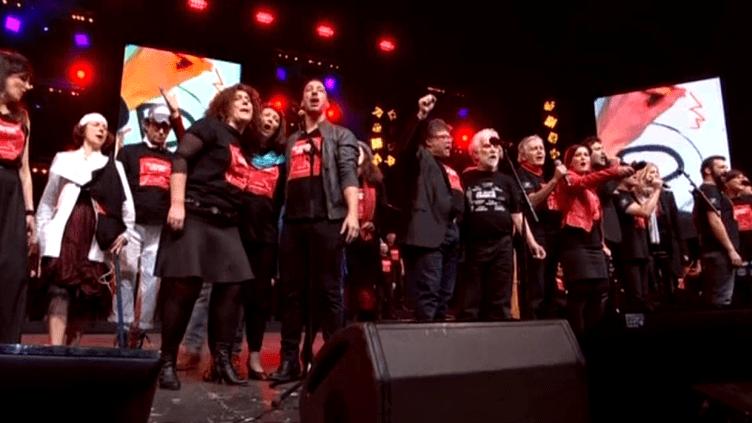 """Le collectif """"Pour ne pas oublier Charlie"""" en concert le 8 février dernier au Zénith de Strasbourg.  (France 3 Alsace)"""