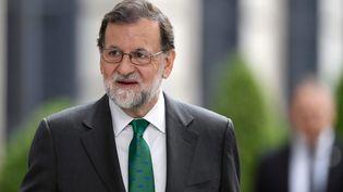 Le Premier ministre espagnol Mariano Rajoy au Parlement, à Madrid, le 31 mai 2018. (OSCAR DEL POZO / AFP)