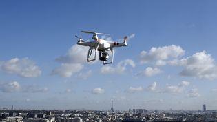 Un drone survole Saint-Cloud, près de Paris, le 27 février 2015. (DOMINIQUE FAGET / AFP)