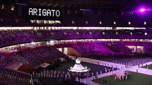 La cérémonie de clôture des Jeux Olympiques de Tokyo, au stade national de Shinjuku Ward à Tokyo (Japon), le 8 août 2021. (TAKUYA YOSHINO / YOMIURI / AFP)