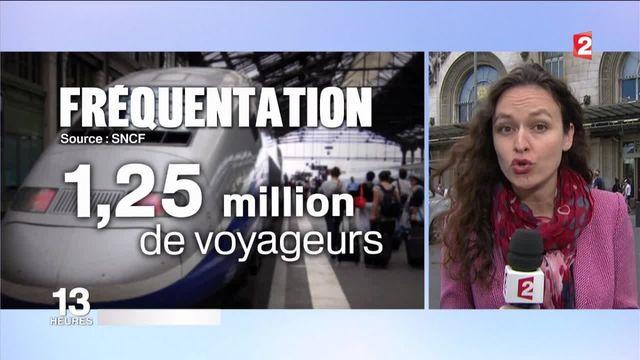 SNCF : forte affluence de vacanciers dans les gares parisiennes
