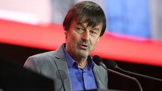 Nicolas Hulot lors d'un débat organisé par la Fondation Abbé Pierre à La Défense (Hauts-de-Seine), le 31 janvier 2020. (MICHEL STOUPAK / NURPHOTO / AFP)
