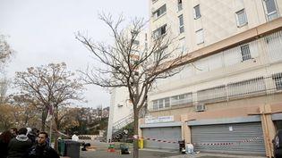 La cité La Bricarde,dans les quartiers Nord deMarseille,où un adolescent a été tué de plusieurs coups de couteau, le29 janvier 2016. (MAXPPP)