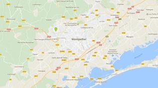 La fusillade s'est produite dans le quartier de La Paillade à Montpellier, lundi 25 juin 2018. (GOOGLE MAPS / FRANCEINFO)
