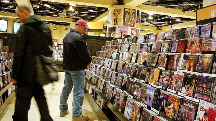 Rayonnage DVD dans un magasin  (Spencer Platt / GETTY IMAGES NORTH AMERICA / AFP)