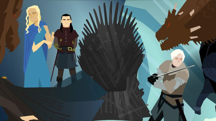 """Du réchauffement climatique à l'exercice du pouvoir, en passant par la place des femmes, les rapports entre les personnages de la série """"Game of Thrones"""" ont donné lieu à de multiples interprétations. (AWA SANE / JESSICA KOMGUEN / PIERRE-ALBERT JOSSERAND / FRANCEINFO)"""