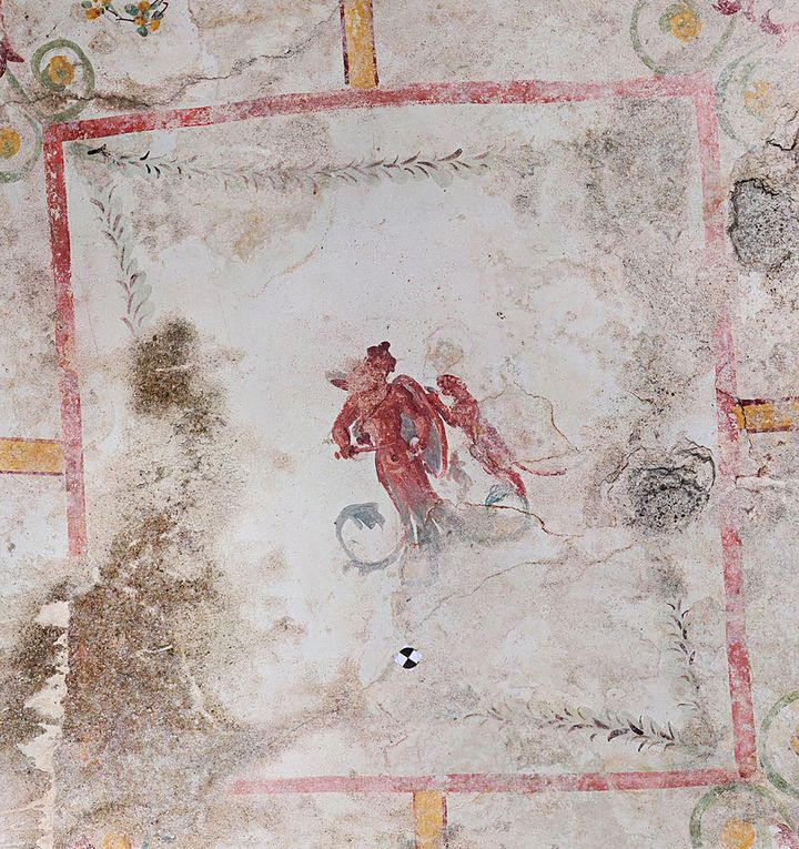 Détails desfresques antiques d'une salle de la Domus Aurea (La Maison Dorée). (HANDOUT / PARCO ARCHEOLOGICO DEL COLOSSEO)