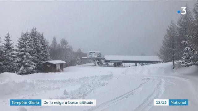 Tempête Gloria : d'importantes chutes de neige dans les Pyrénées-Orientales