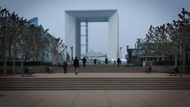 L'arche de La Défense, à Courbevoie (Hauts-de-Seine). (MAXPPP)