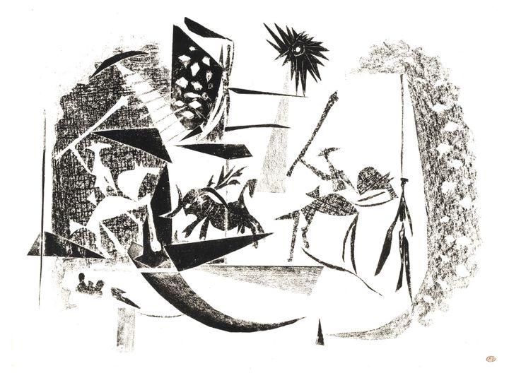 Pablo Picasso, Corrida au soleil noir, Paris, 7 janvier 1946, Musée national Picasso-Paris, Dation Pablo Picasso, 1979 (© RMN-Grand Palais / Thierry Le Mage © Succession Picasso 2019)