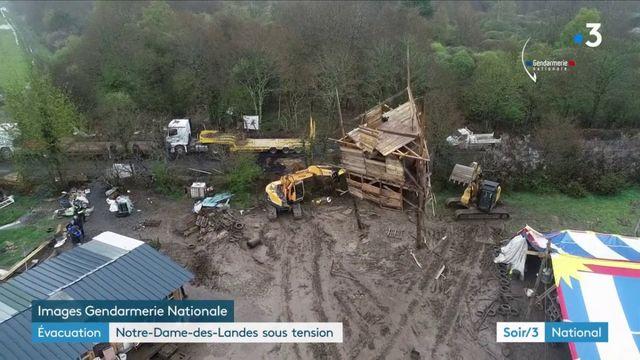 Notre-Dame-des-Landes : une évacuation de la ZAD émaillée par des heurts
