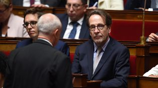 Gilles Le Gendre, président du groupe LREM à l'Assemblée national, lors de la séance de questions au gouvernement, le 4 juin 2019 (LUCAS BARIOULET / AFP)