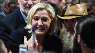 Marine Le Pen àFessenheim, le 16 mai 2019. (FREDERICK FLORIN / AFP)
