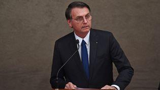 Le nouveau président brésilien, Jair Bolsonaro, le 10 décembre 2018 à Brasilia (Brésil). (EVARISTO SA / AFP)