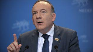 Le président du Medef, Pierre Gattaz, le 17 juin 2014. (ERIC PIERMONT / AFP)
