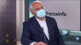 Pierre Goguet, le président de CCI France, était l'invité éco de franceinfo mercredi 5 mai. (FRANCEINFO / RADIOFRANCE)