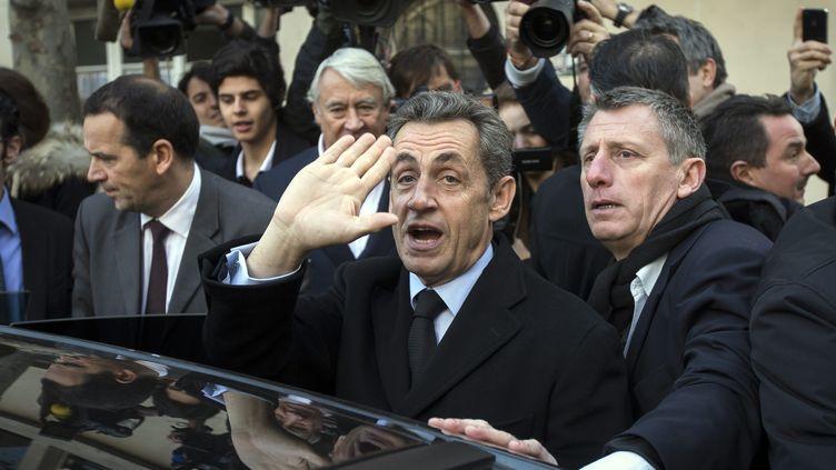 Nicolas Sarkozy le jour de l'élection du président de l'UMP le 29 novembre 2014 à Paris. (  MAXPPP)