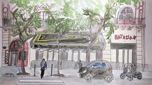 La facade et l'intérieur et du Bataclan ont été refaits avant sa réouverture le 12 novembre 2016. (ELISABETH DE POURQUERY / FRANCEINFO)