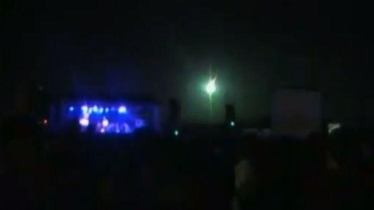 Une météorite est tombée dans le nord de l'Argentine, en pleine nuit, dimanche 21 avril. (APTN / FRANCETV INFO)