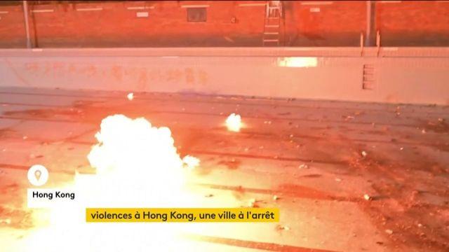 Violences à Hong Kong, une ville à l'arrêt