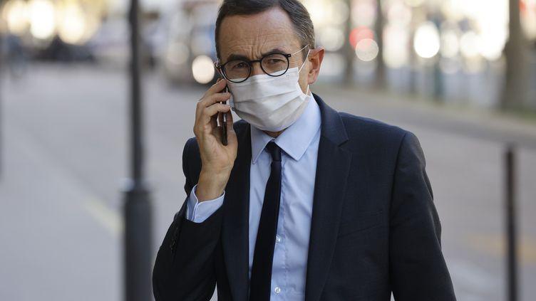 Bruno Retailleau, président du groupe Les Républicains au Sénat, le 21 octobre 2020 à Paris (LUDOVIC MARIN / AFP)