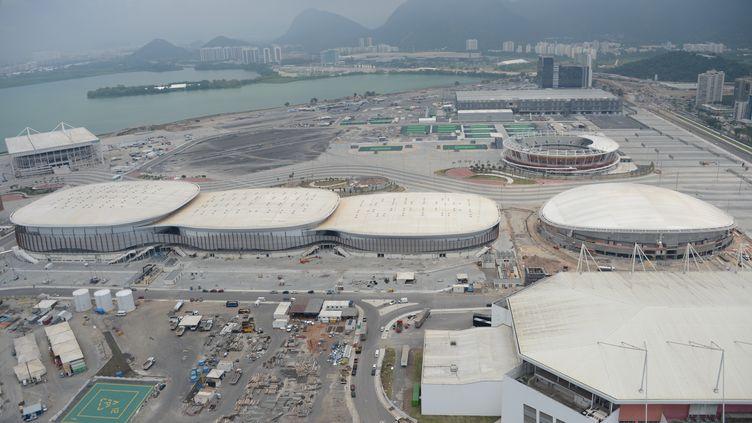 Vue aérienne du site olympique de Deodoro de Rio de Janeiro (VANDERLEI ALMEIDA / AFP)