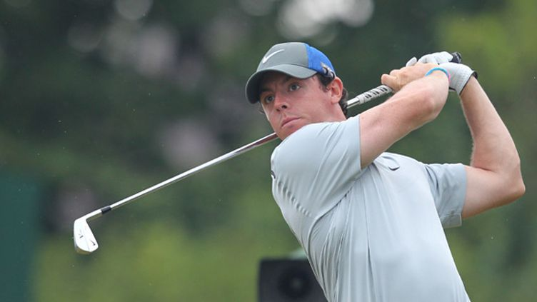 Rory McIlroy en action lors du British Open (PETER MUHLY / AFP)