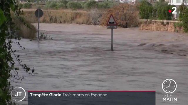 Tempête Gloria : trois morts en Espagne, les Pyrénées-Orientales en alerte