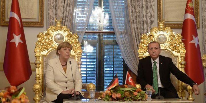 Merkel et Erdogan à Ankara le 18 octobre 2015 (Metin Pala / ANADOLU AGENCY)