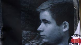 Une photo de Clément Méric, tué à l'âge de 18 ans par trois skinheads le 5 juin 2013 à Paris. (JOEL SAGET / AFP)
