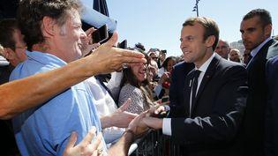 Le président de la République, Emmanuel Macron, à Marseille, le 21 septembre 2017. (JEAN-PAUL PELISSIER / AFP)