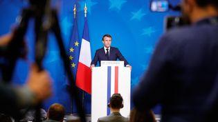 Emmanuel Macron en juillet 2019. (GEOFFROY VAN DER HASSELT / AFP)