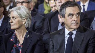Penelope et François Fillon, lors d'un meeting à Paris, le 29 janvier 2017. (HAMILTON / REA)