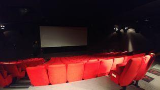 Une salle de cinéma désertée à cause du Covid à Palaiseau (Essonne). (ADÈLE BOSSARD / RADIO FRANCE)