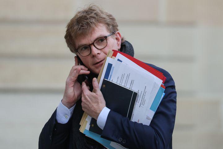 Marc Fesneau, ministre des Relations avec le Parlement, à l'Elysée, le 15 janvier 2020. (LUDOVIC MARIN / AFP)