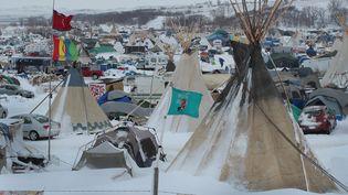 Le camp des Sioux proche du tracé de l'oléoduc Dakota Acces Pipeline en novembre 2016 (SCOTT OLSON / GETTY IMAGES NORTH AMERICA)